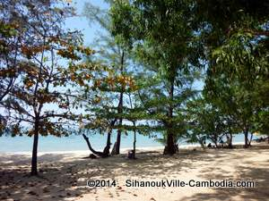 Views of Koh Seh Island off the coast of SihanoukVille, Cambodia.